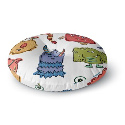 Brienne Jepkema Little Monsters Round Floor Pillow Size: 26 x 26