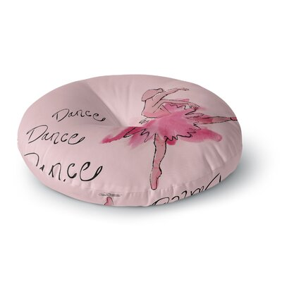 Brienne Jepkema Ballerina Round Floor Pillow Size: 23 x 23