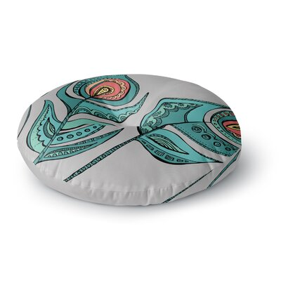 Brienne Jepkema Feathers Round Floor Pillow Size: 23 x 23