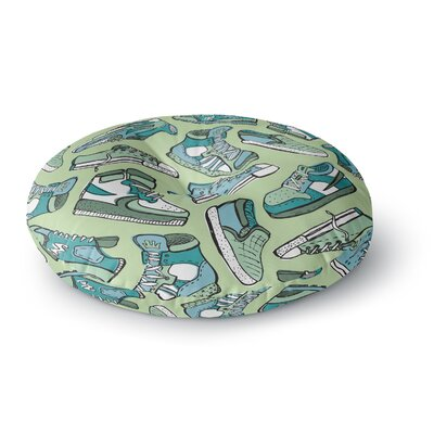 Brienne Jepkema Sneaker Lover IV Round Floor Pillow Size: 26 x 26, Color: Green
