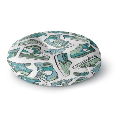 Brienne Jepkema Sneaker Lover IV Round Floor Pillow Size: 23 x 23, Color: Green/White