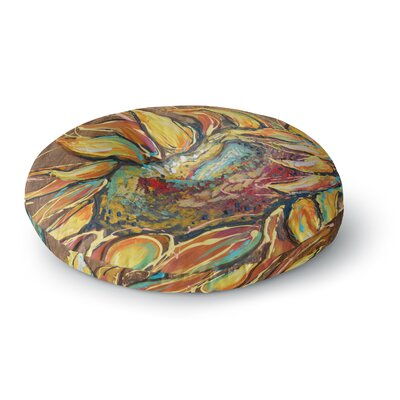 Brienne Jepkema Sunflower Flower Round Floor Pillow Size: 23 x 23