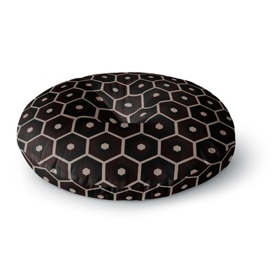 Budi Kwan Tiled Mono Round Floor Pillow Size: 26 x 26