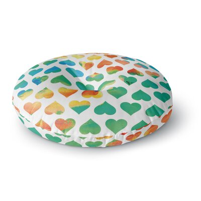 Budi Kwan Be Mine Round Floor Pillow Size: 23 x 23