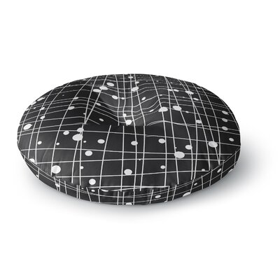 Budi Kwan Woven Web Round Floor Pillow Size: 26 x 26, Color: Black