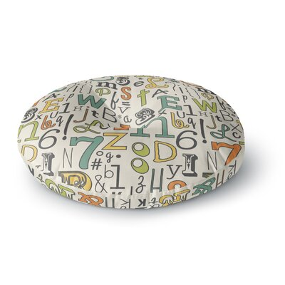 Busy Bree ABC Letters Round Floor Pillow Size: 23 x 23