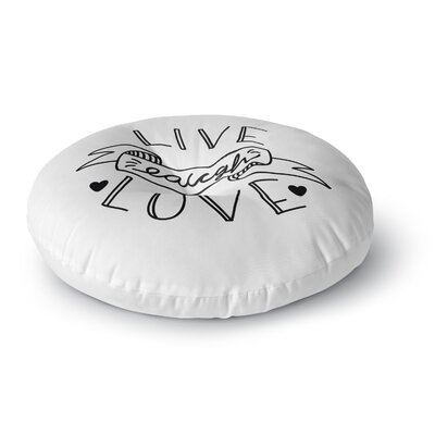 Busy Bree LLL Round Floor Pillow Size: 23 x 23