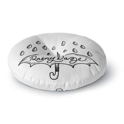 Busy Bree Rainy Daze Round Floor Pillow Size: 23 x 23