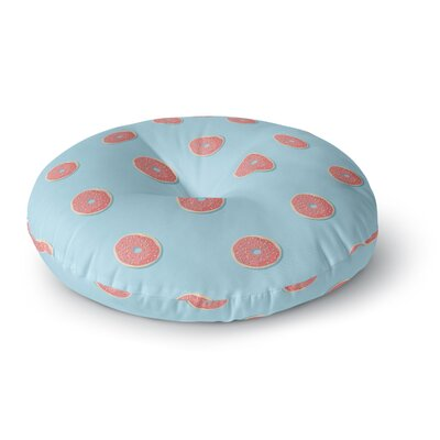 Busy Bree Donut Dreams Food Round Floor Pillow Size: 23 x 23
