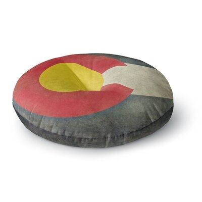 Bruce Stanfield State Flag of Colorado Round Floor Pillow Size: 26 x 26