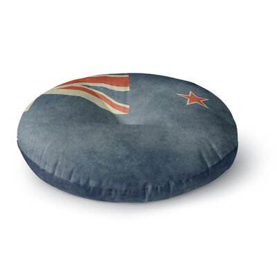 Bruce Stanfield Flag of New Zealand Round Floor Pillow Size: 26 x 26
