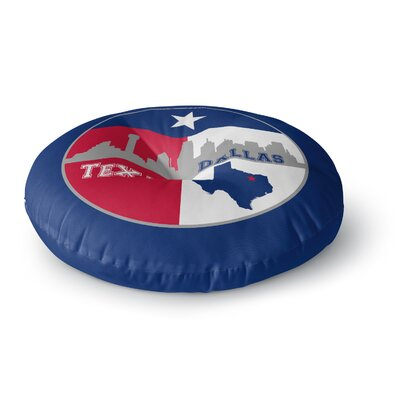 Bruce Stanfield Dallas Texas Round Floor Pillow Size: 23 x 23