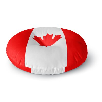 Bruce Stanfield Flag of Canada Round Floor Pillow Size: 26 x 26
