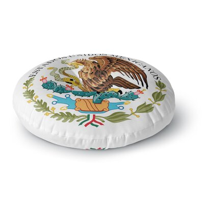 Bruce Stanfield Mexico Emblem Round Floor Pillow Size: 26 x 26