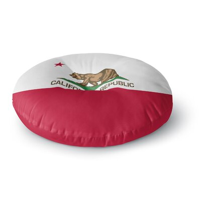 Bruce Stanfield California State Flag Round Floor Pillow Size: 23 x 23
