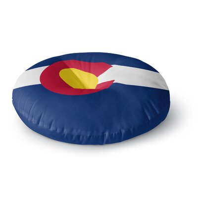 Bruce Stanfield Colorado State Flag Round Floor Pillow Size: 26 x 26
