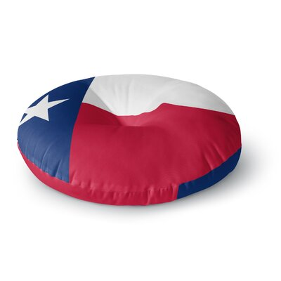 Bruce Stanfield Texas Flag Round Floor Pillow Size: 26 x 26, Color: Red/Blue