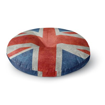 Bruce Stanfield UK Union Jack Flag Round Floor Pillow Size: 23 x 23