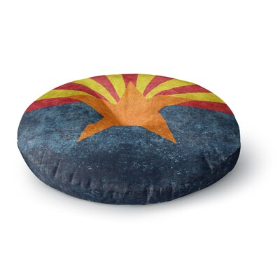 Bruce Stanfield Arizona State Flag Retro Style Round Floor Pillow Size: 23 x 23
