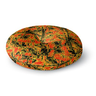 Bruce Stanfield Golden Round Floor Pillow Size: 23 x 23