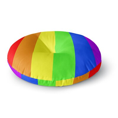 Bruce Stanfield Rainbow Stripes Digital Round Floor Pillow Size: 23 x 23
