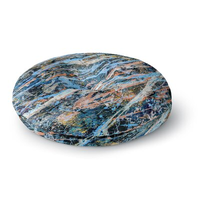 Bruce Stanfield Cobalt One Abstract Round Floor Pillow Size: 26 x 26