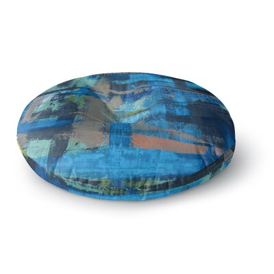 Bruce Stanfield Hyper Painting Round Floor Pillow Size: 26