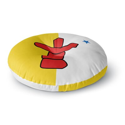 Bruce Stanfield Flag of Nunavut Tribal Round Floor Pillow Size: 23
