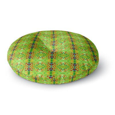 Bruce Stanfield Rage Against The Machine Pattern Round Floor Pillow Size: 26 x 26, Color: Green