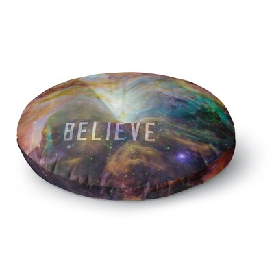 Bruce Stanfield Orion Nebula Believe Round Floor Pillow Size: 23 x 23