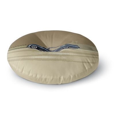 Bruce Stanfield Cadillac Fleetwood 1961 Olive Digital Round Floor Pillow Size: 23 x 23