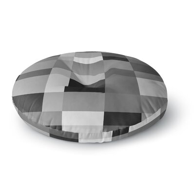 Bruce Stanfield Monotones Cubed Digital Round Floor Pillow Size: 23 x 23