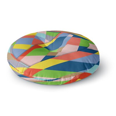 Bruce Stanfield Layers #19 Pastel Digital Round Floor Pillow Size: 26 x 26