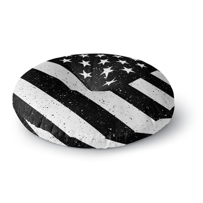 Bruce Stanfield US Flag Digital Round Floor Pillow Size: 23 x 23