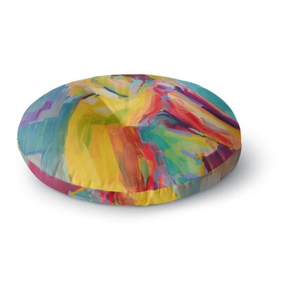 Cecibd Abstract Round Floor Pillow Size: 26 x 26
