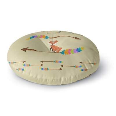 Cristina Bianco Design Fox Tribal Arrows Round Floor Pillow Size: 26 x 26