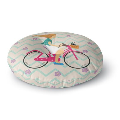 Cristina Bianco Design Bicycle Ride Round Floor Pillow Size: 23 x 23