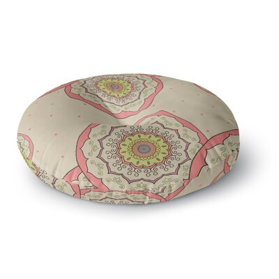 Cristina Bianco Design Mandala Illustration Round Floor Pillow Size: 23 x 23, Color: Pink