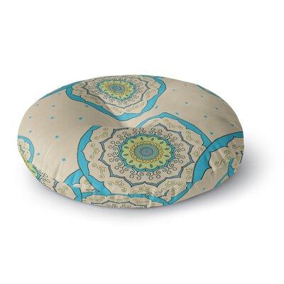Cristina Bianco Design Mandala Illustration Round Floor Pillow Size: 26 x 26, Color: Blue