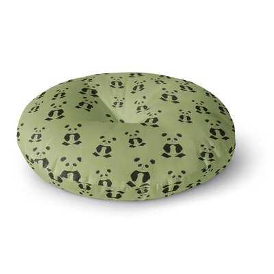 Cristina Bianco Design Panda Pattern Illustration Round Floor Pillow Size: 26 x 26