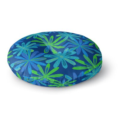 Cristina Bianco Design Floral Pattern Illustration Round Floor Pillow Size: 23 x 23