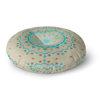 Cristina Bianco Design Mandala Painting Round Floor Pillow Size: 23 x 23