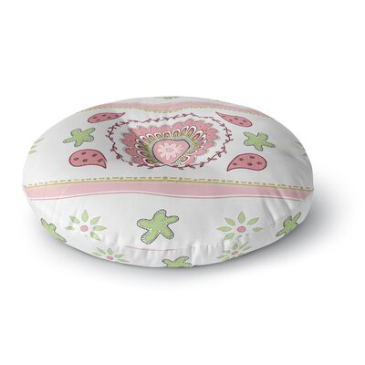 Cristina Bianco Design Mandala Painting Round Floor Pillow Size: 26 x 26, Color: Pink