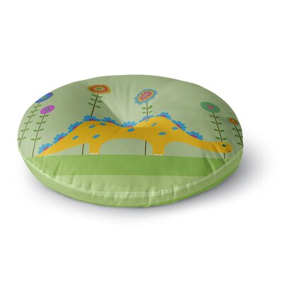 Cristina Bianco Design Cute Dinosaur Illustration Round Floor Pillow Size: 26 x 26