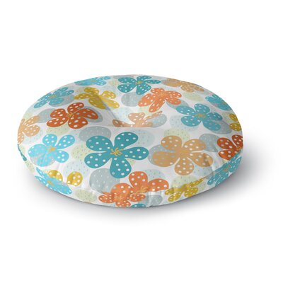 Cristina Bianco Design Floral Pattern Illustration Round Floor Pillow Size: 26 x 26