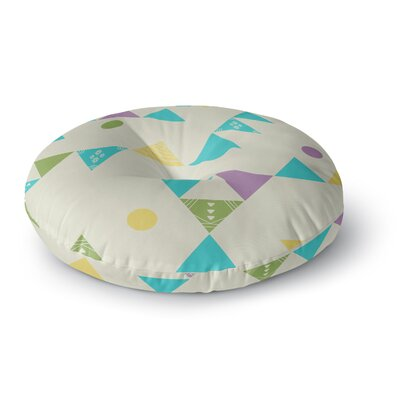 Cristina Bianco Design Colorful Triangles Illustration Round Floor Pillow Size: 26 x 26