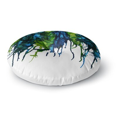 Claire Day Drops Round Floor Pillow Size: 26 x 26