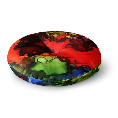 Claire Day Beach Bum Round Floor Pillow Size: 23 x 23