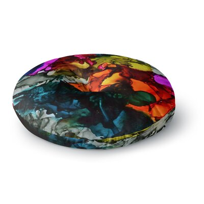 Claire Day Hippie Love Child Round Floor Pillow Size: 26 x 26