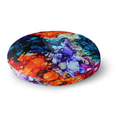 Claire Day Evanescence Rainbow Round Floor Pillow Size: 23 x 23